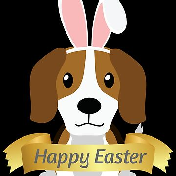 Beagle Doggy Happy Easter Bunny Ears Dog Lovers Gift by peter2art