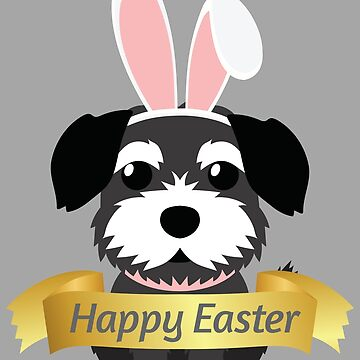 Border Terrier Happy Easter Bunny Ears Dog Lover Gift by peter2art