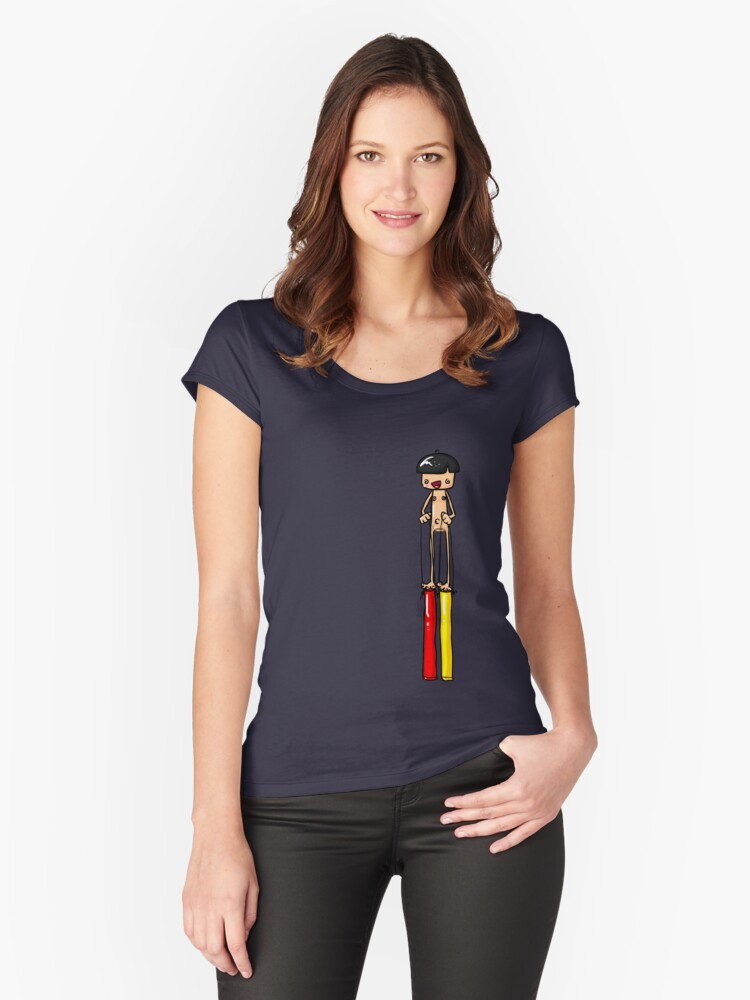 Ned is REALLY Tall Women's Fitted Scoop T-Shirt Front