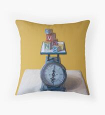 Weighing Education Throw Pillow