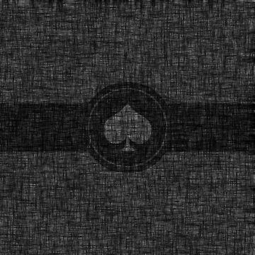 Black and grey grunge stripe spades by Anteia