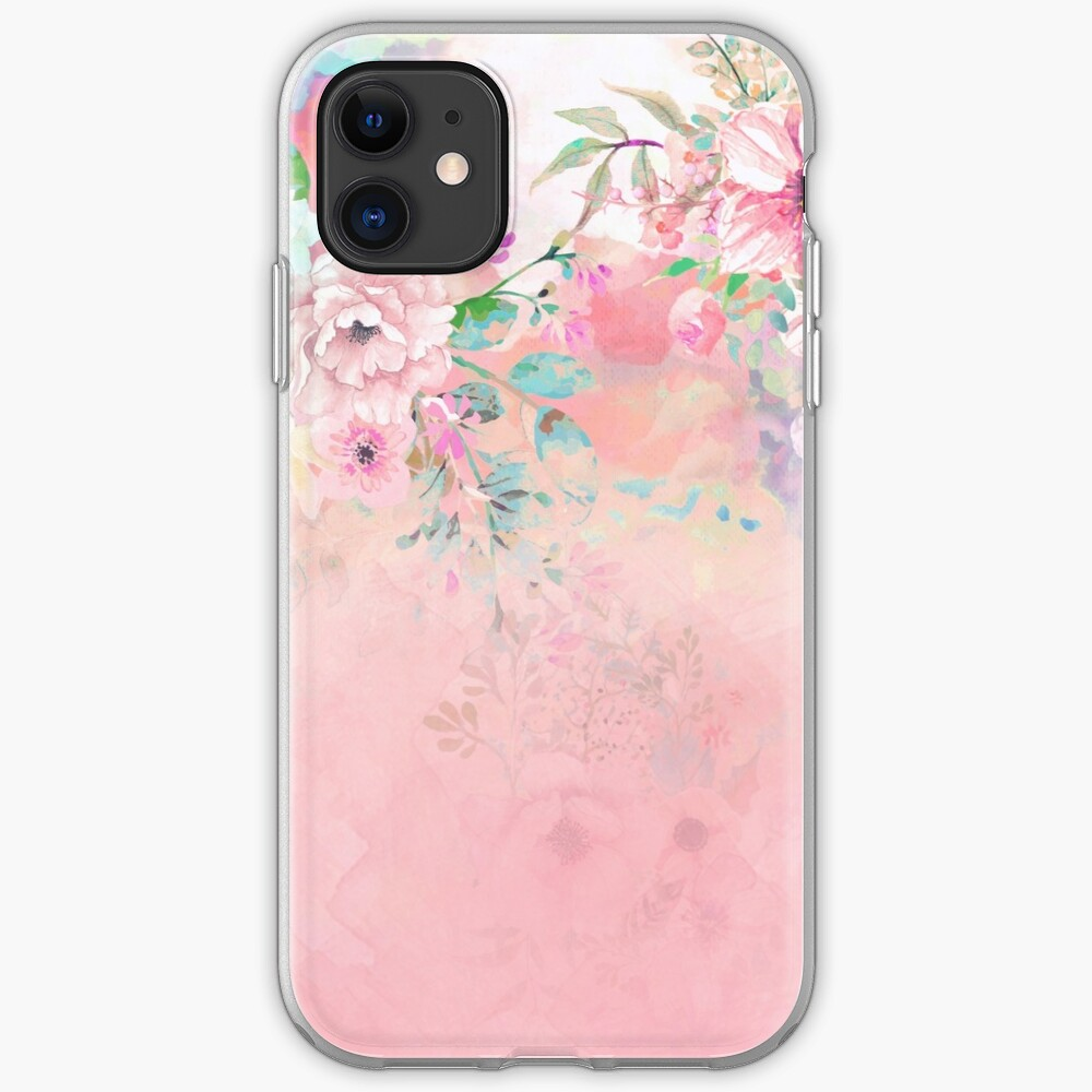 Botanical Fragrances in Blush Cloud-Ιmmersed iPhone Soft Case