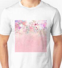 Botanical Fragrances in Blush Cloud-Ιmmersed Slim Fit T-Shirt