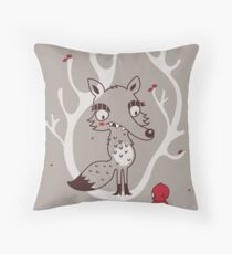 Hello big wolf Throw Pillow