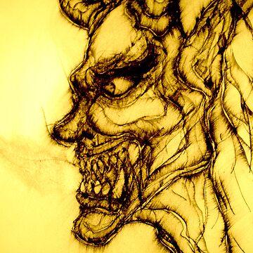 Original drawing of Male Hannya by JosephTien