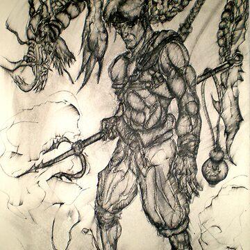 Warrior of Sea and Dragon Eel by JosephTien