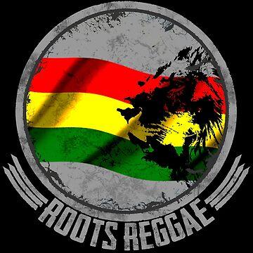 Löwe Roots Reggae - Dein neues Raggaeshirt, der Festivalsommer kann kommen! von Periartwork