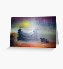 Fading castle Greeting Card
