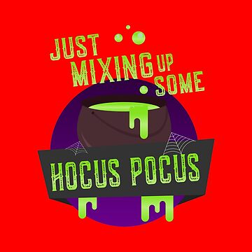 Just Mixing Some Hocus Pocus Halloween Witch by flippinsg