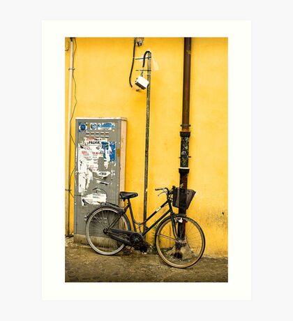 Bike In campo De Fiori Art Print