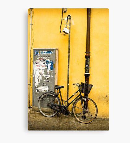 Bike In campo De Fiori Canvas Print