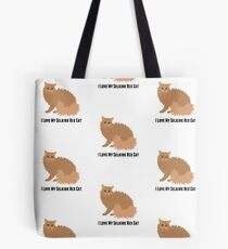 Ich liebe meine Selkirk Rex Katze Tote Bag