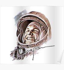 UdSSR-Astronaut Yuri Gagarin Poster
