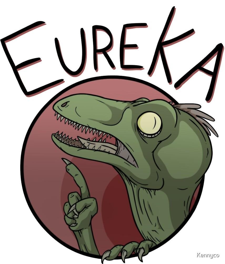 Eureka Raptor - Dinosaur T-Shirt by Kennyco