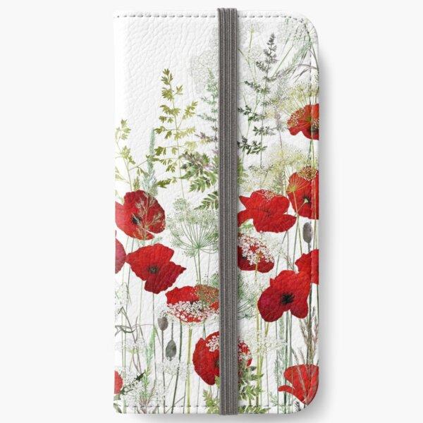 Poppy Field iPhone Wallet