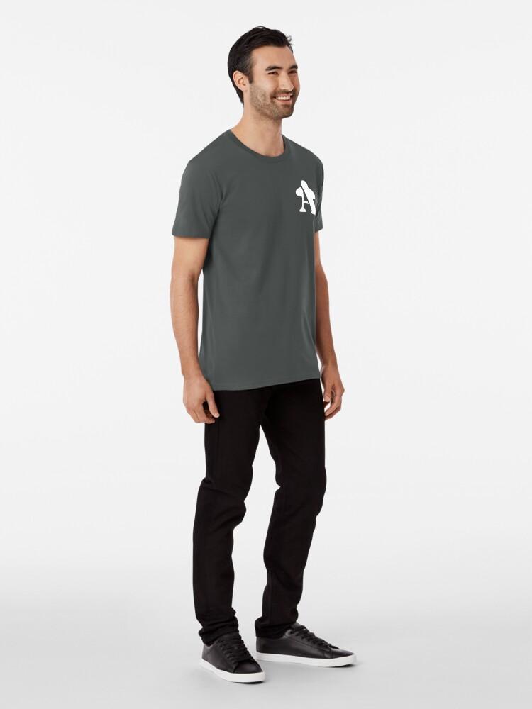 Alternate view of BGA Meeple - White Premium T-Shirt