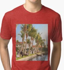 Watching the boat races, Palm Beach, Florida 1906 Tri-blend T-Shirt