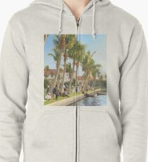 Watching the boat races, Palm Beach, Florida 1906 Zipped Hoodie