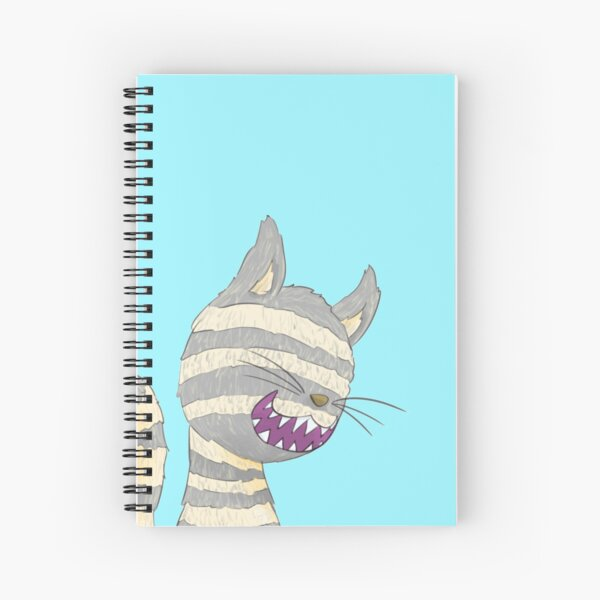 Cheshire Cat Grin Spiral Notebook
