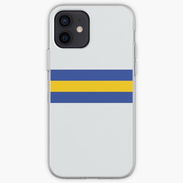 Leeds White Blue & Yellow Colours Bar Design iPhone Soft Case
