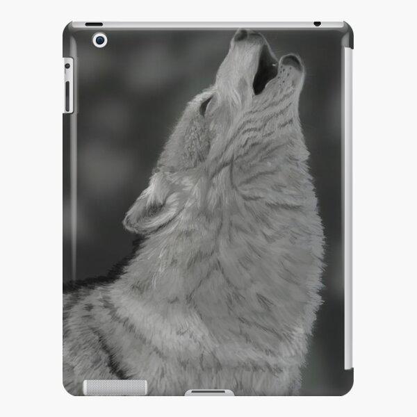Lone Wolf Digital Painting iPad Snap Case