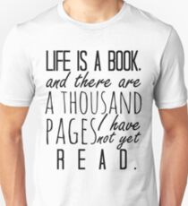"""Life is a book. . ."" - Will Herondale Quote Slim Fit T-Shirt"