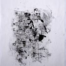 Contraintes et Abandon #7 - Monotype on Wenzhou Paper + pieces of paper sewn by Pascale Baud