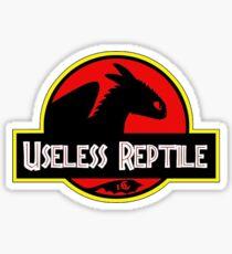 useless reptile Sticker