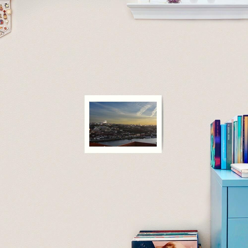 View over Vila Nova de Gaia Art Print