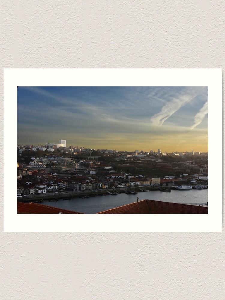 Alternate view of View over Vila Nova de Gaia Art Print