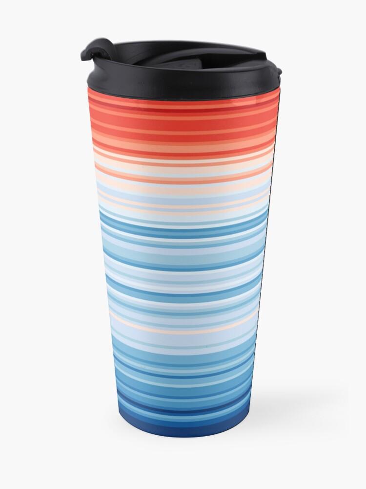 Alternate view of Climate Change Stripes Travel Mug