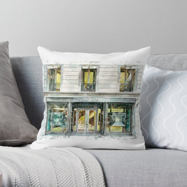 Tiffany Storefront Throw Pillow