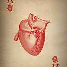 Vintage Heart Ace of Hearts by Kitty Bitty