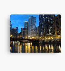 Dearborn Street Bridge at Night Canvas Print