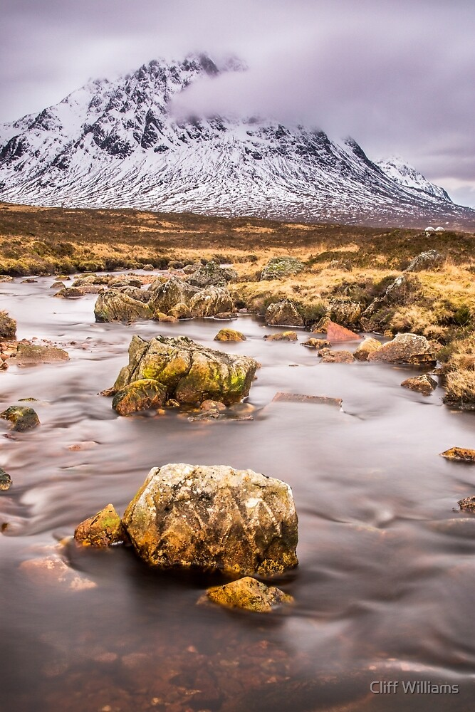 Flowing to the Buckle, Rannoch Moor, Scotland by Cliff Williams