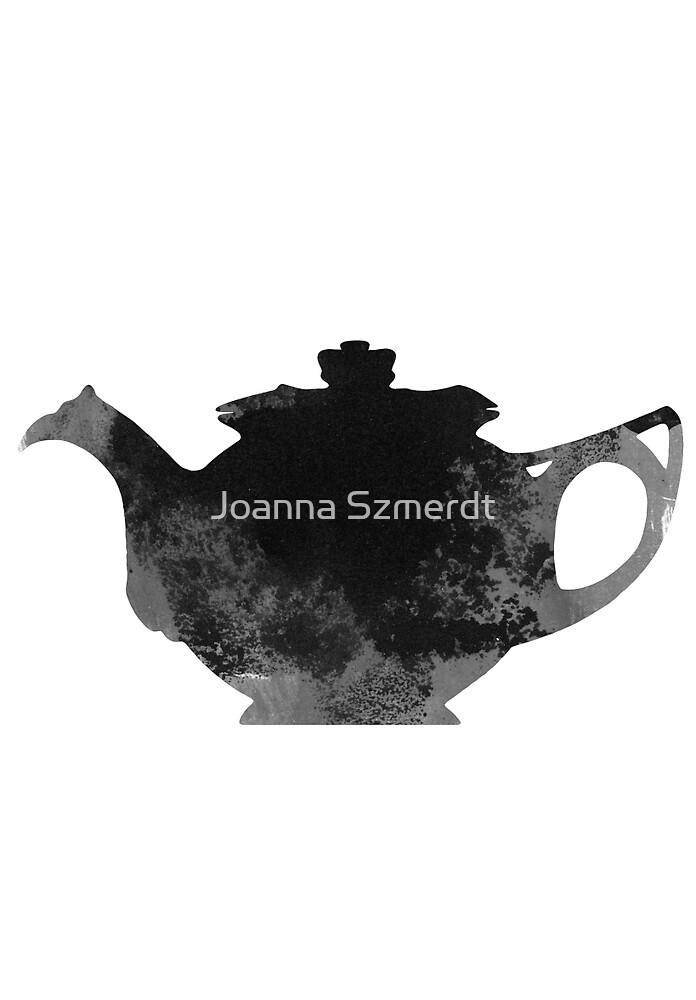 Teapot watercolor art print painting by Joanna Szmerdt