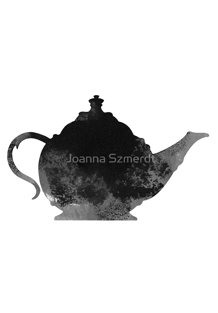 Abstract teapot silhouette by Joanna Szmerdt