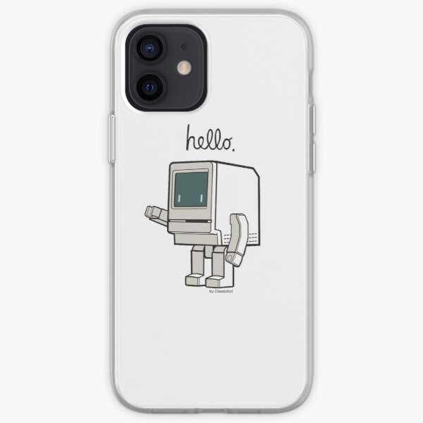 Classicbot Classic Cute Robot Graphic iPhone Soft Case