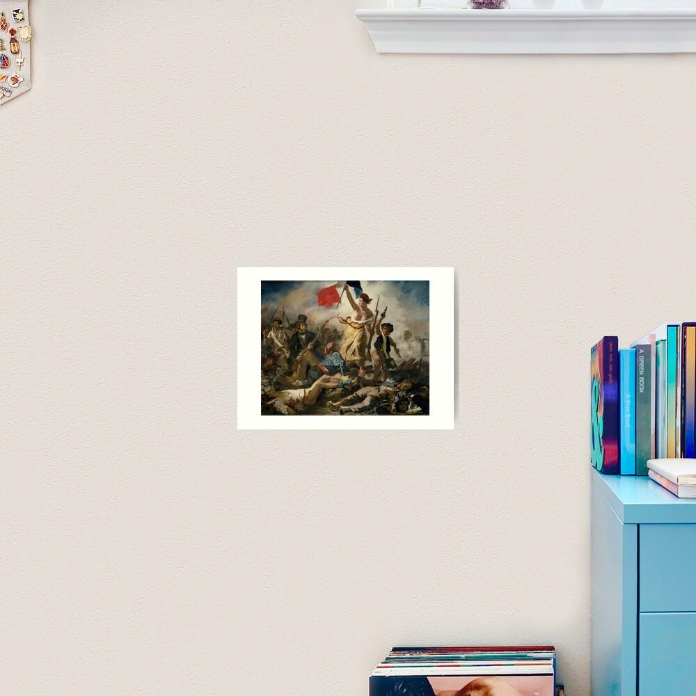 La Liberte Guidant Le Peuple Eugene Delacroix Art Print By