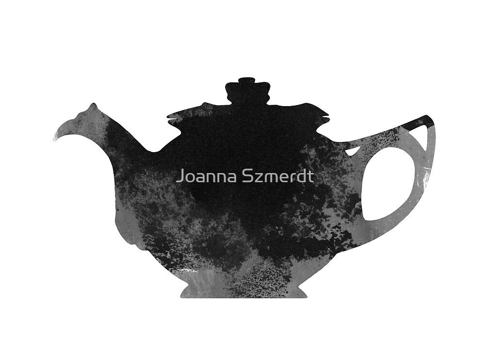 Teapot kitchen utensils silhouette by Joanna Szmerdt