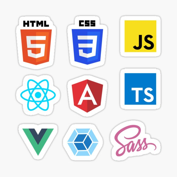 Front End Web Development Combo Pack (med+) Sticker
