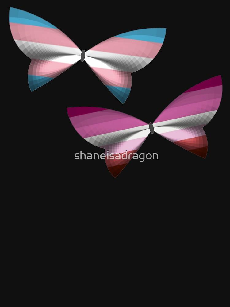 Trans Lesbian Pride Butterflies by shaneisadragon