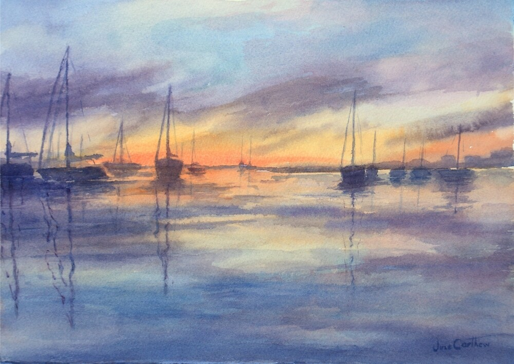 Sunset by June Carthew by HurstPainters