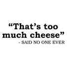 Too Much Cheese by DJBALOGH