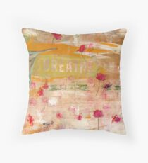BREATHE inspirational contemporary abstract painting Throw Pillow