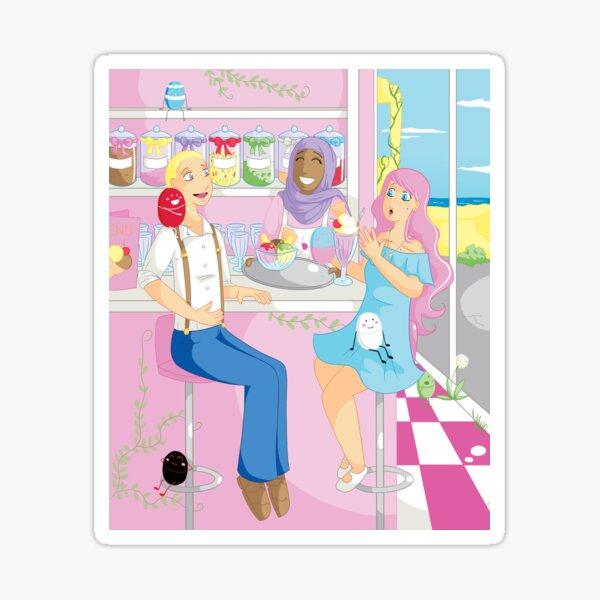 Companions - Ice Cream Parlour Sticker