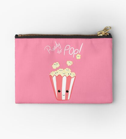 Funny Expecting card - Ready to Pop - Funny Pregnant - Pregnancy - Baby Shower - Gift - Popcorn Pun - Funny expectant mom mum Zipper Pouch