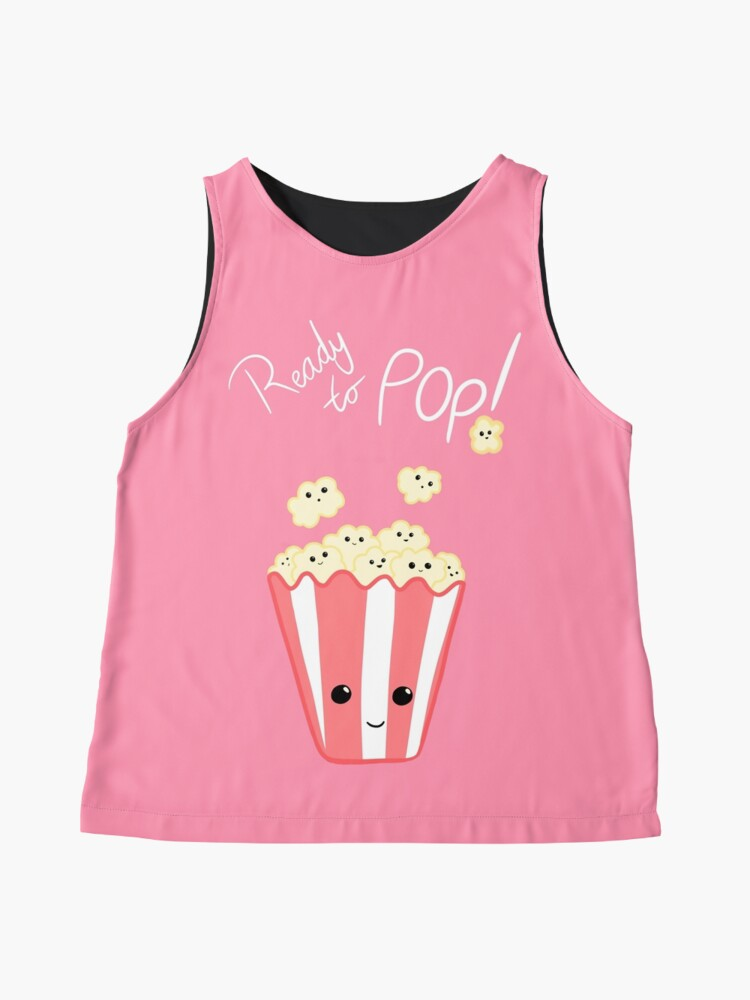 Alternate view of Funny Expecting card - Ready to Pop - Funny Pregnant - Pregnancy - Baby Shower - Gift - Popcorn Pun - Funny expectant mom mum Sleeveless Top