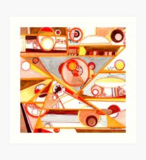 Economies of Scale, Ink drawing Art Print