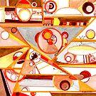 Economies of Scale, Ink drawing by Regina Valluzzi